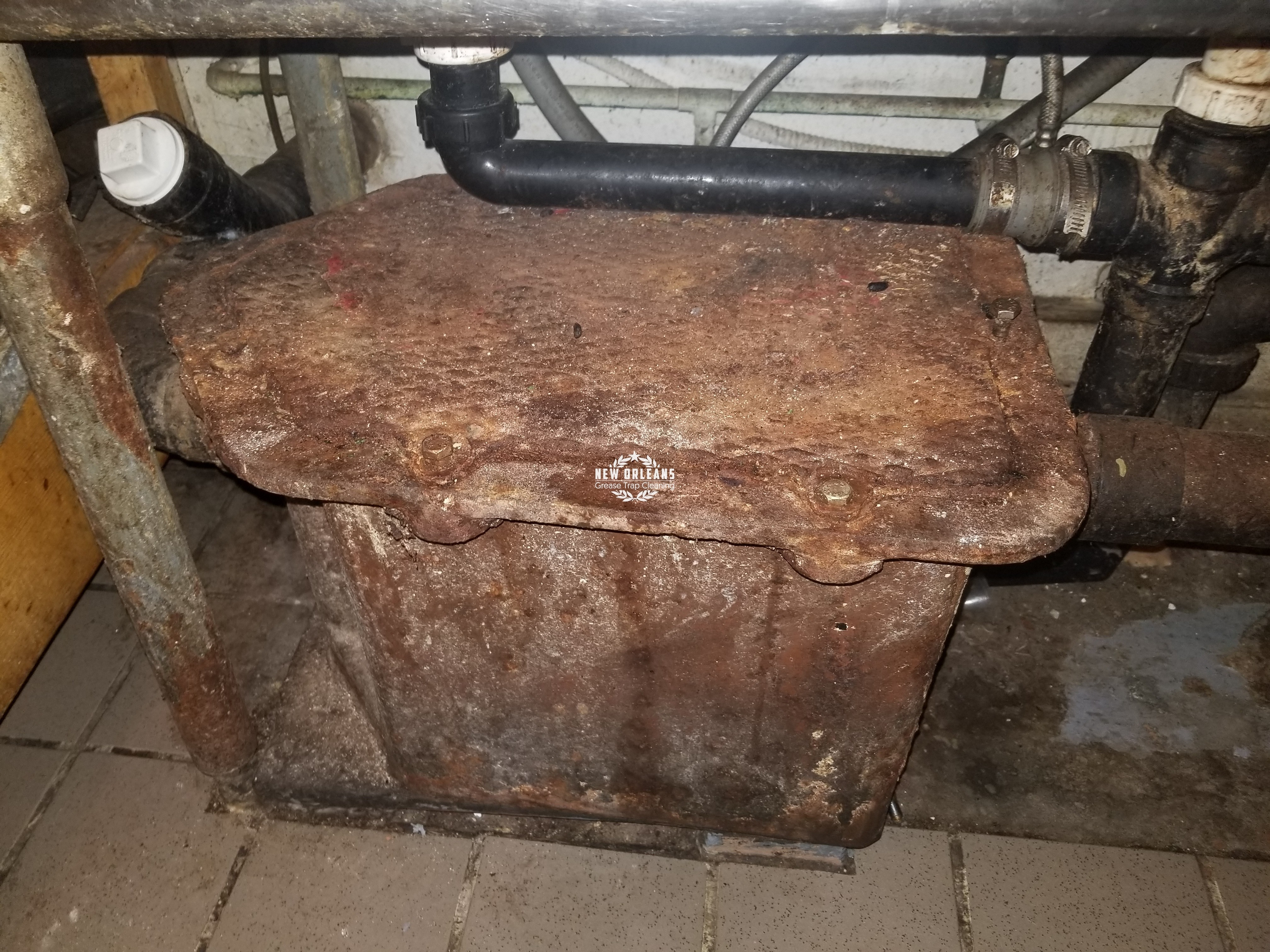 Leaking Under Sink Grease Trap New Orleans Grease Trap